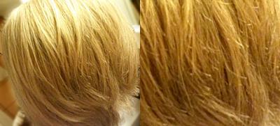 Haare schließlich wieder mit Shampoo gewaschen - nach fünf Monaten ohne Pflegeprodukte (außer Wasser)